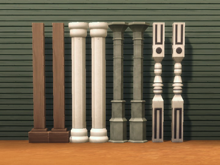 Mod The Sims Four Decorative Columns