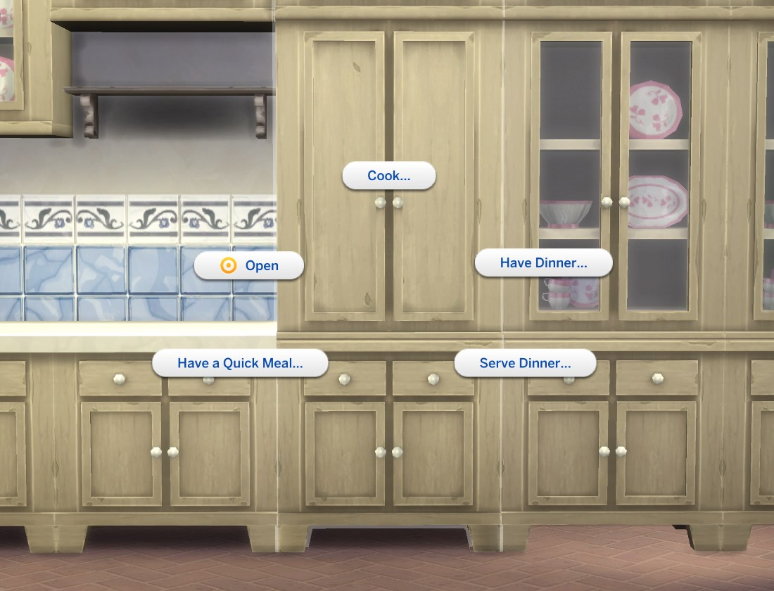 Mod the sims fitted country kitchen cupboard for Fitted kitchen cupboards