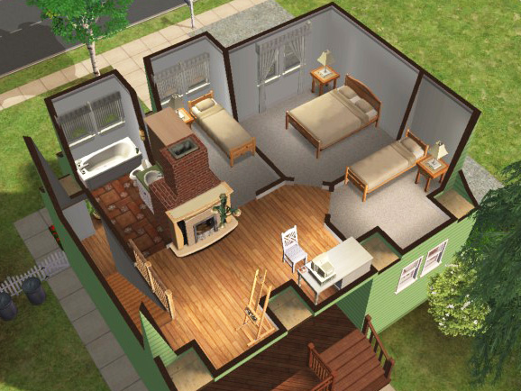 Mod the sims newbie road 98 under base game for Garden room 2x3