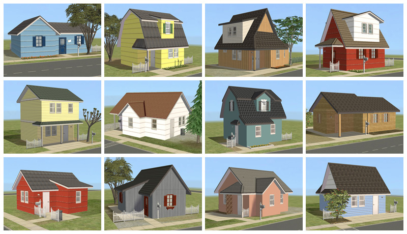 Mod the sims newbie road 135 146 twelve budget starters for Household design 135 curtain road