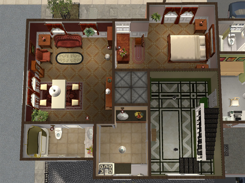 Mod The Sims Backdoor Lane 57 Urban Apartment House