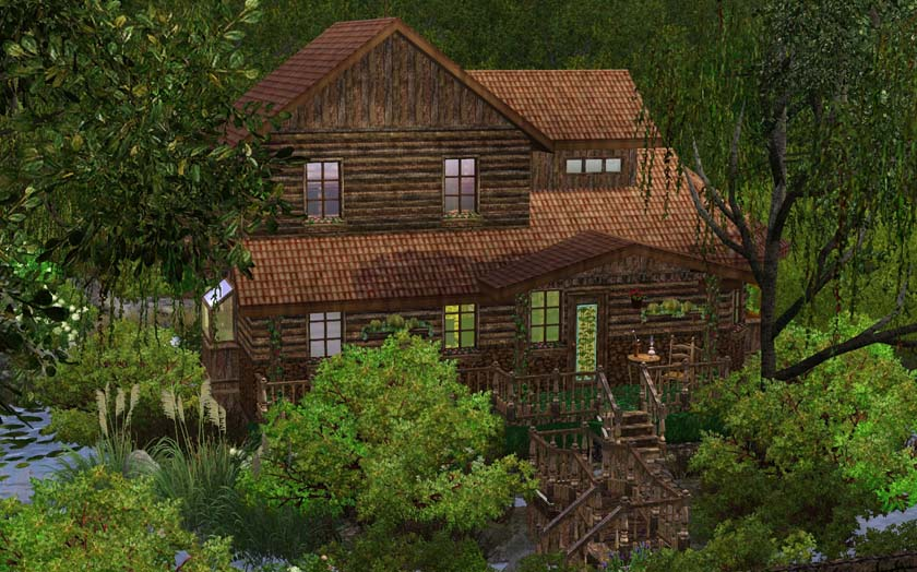 Mod The Sims Old Cottage In Woods