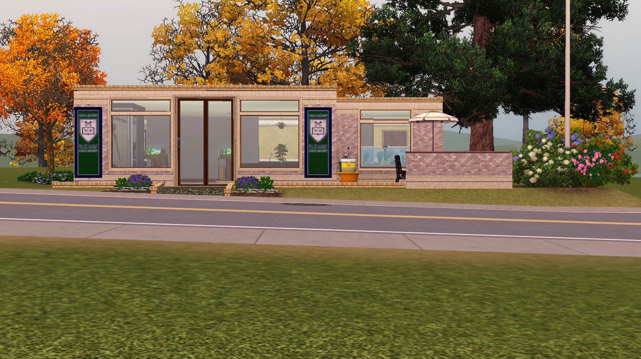 Mod the sims tattoo n 39 style salon for university life for 3 fifty eight salon