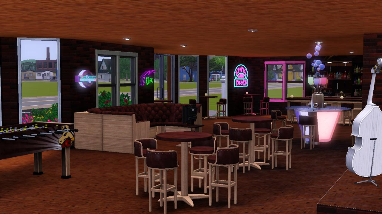 mod the sims screamin cat watering hole 25x25 dive bar