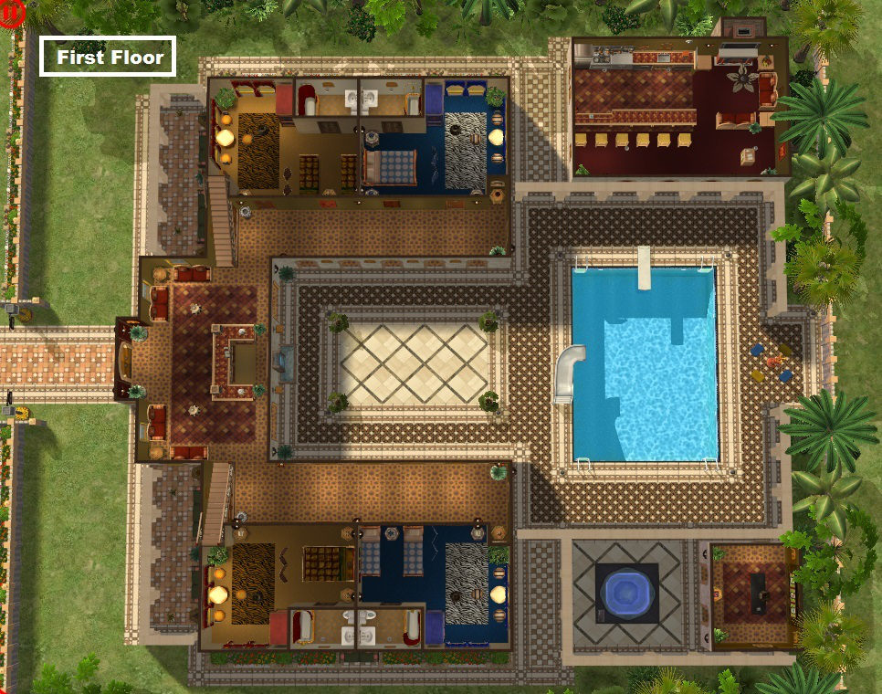Mod the sims the casbah sim sala bim hotel for Pool design sims 3