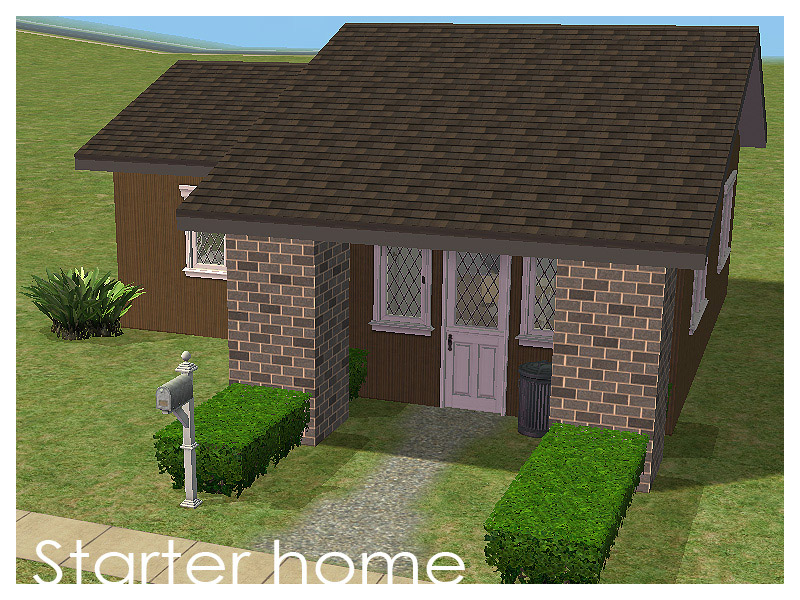 Mod the sims starter home small street 102 for Small starter homes