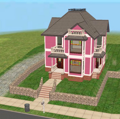 mod the sims - 1329 carroll avenue (charmed manor exterior)