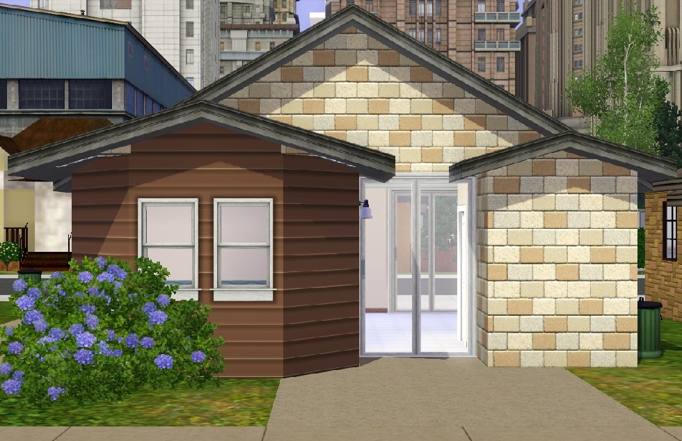 "Mod The Sims - ""Ledomus"" Starter home Plan #2, NO CC"
