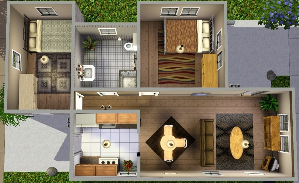 Mod The Sims Ledomus Starter Home Plan 3 No Cc