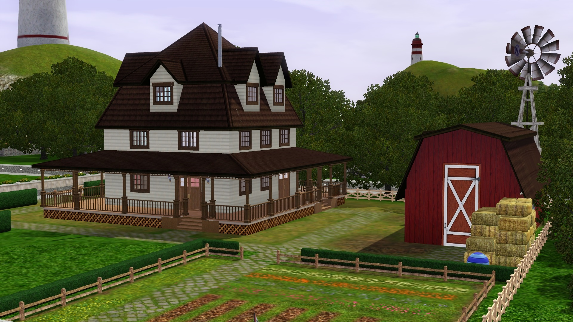 Mod the sims traditional farmhouse no cc for Classic house sims 3