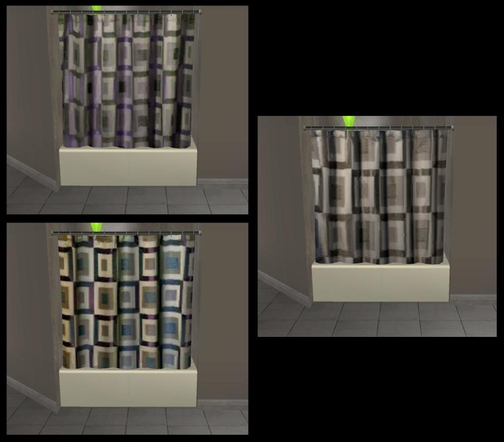 Mod The Sims - Bed Bath & Beyond Shower Curtains (for cheaper ...