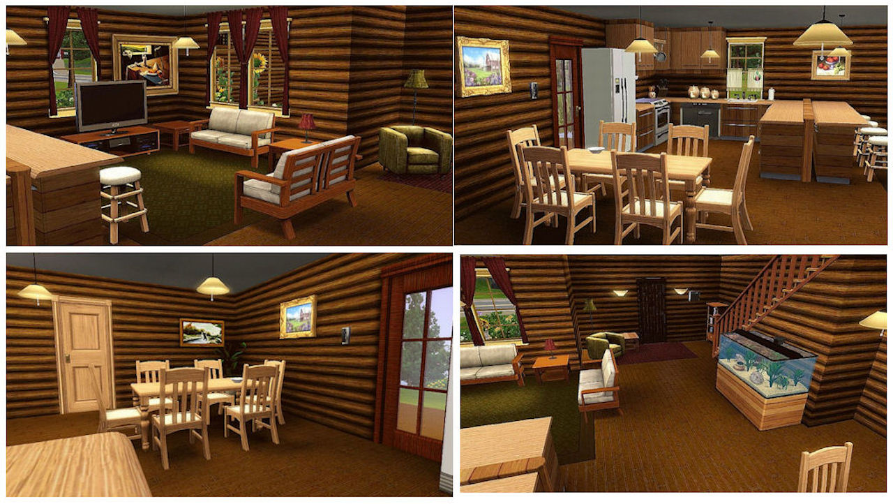 Mod The Sims Rustic Log Home