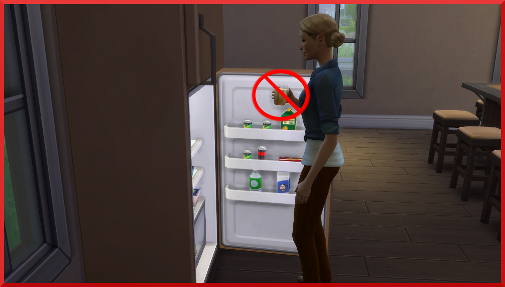 mod the sims no autonomous grab a drink. Black Bedroom Furniture Sets. Home Design Ideas