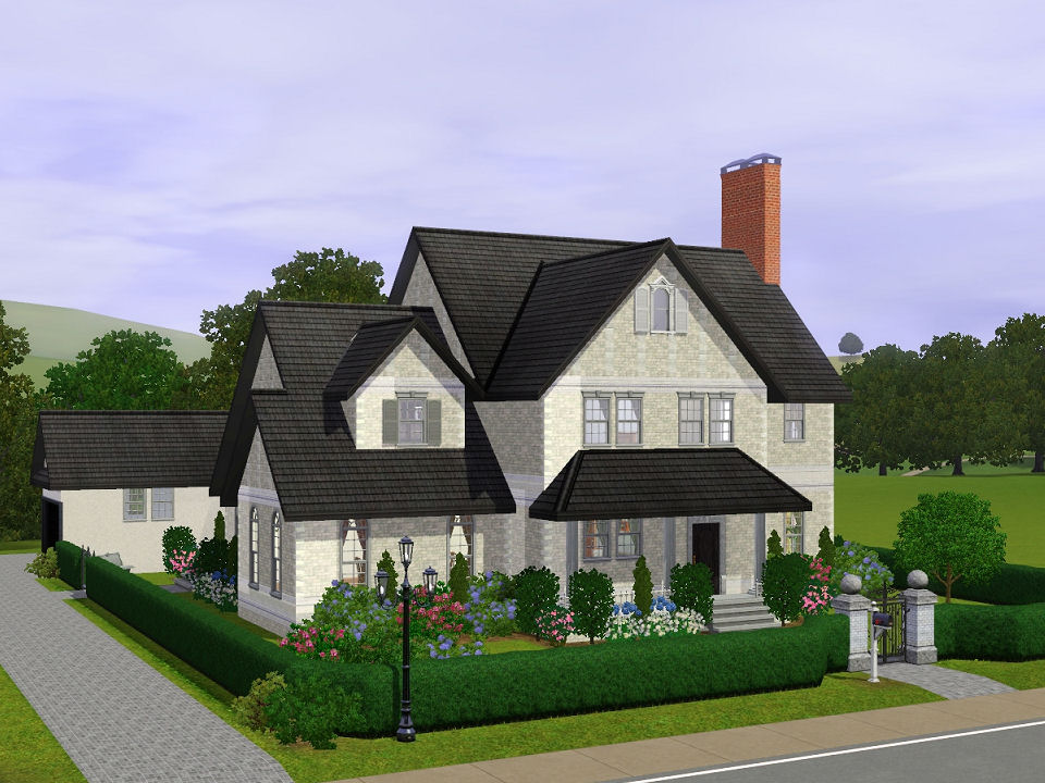 Mod the sims the winchester a fully furnished four for Classic house sims 3