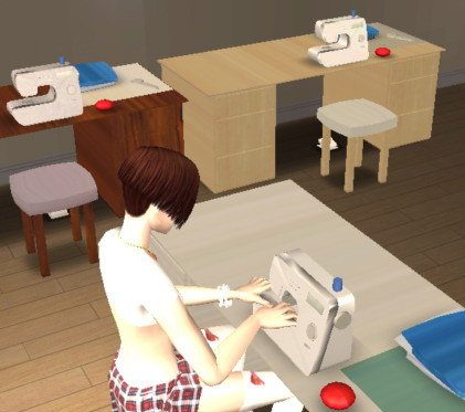 sims 2 sewing machine