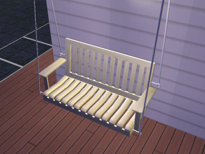 Mod The Sims Porch Swings In Rustic And Mission Style