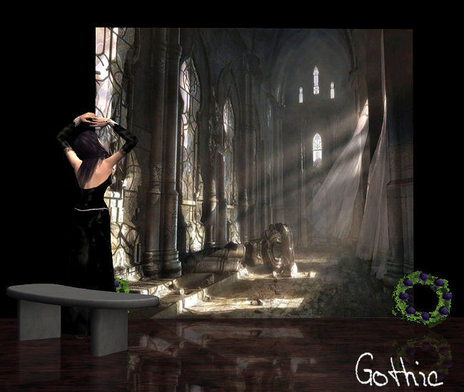Mod The Sims Mural Set Gothic Fantasy