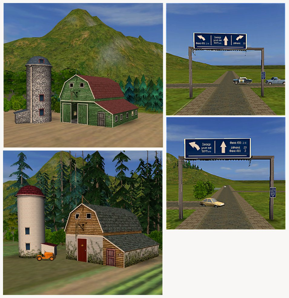 Mod the sims hood deco pinewoods buildings and signs for Deco appartement sims 4