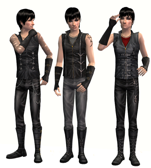 Mod The Sims Teen Style Male Goth Outfit Converted For