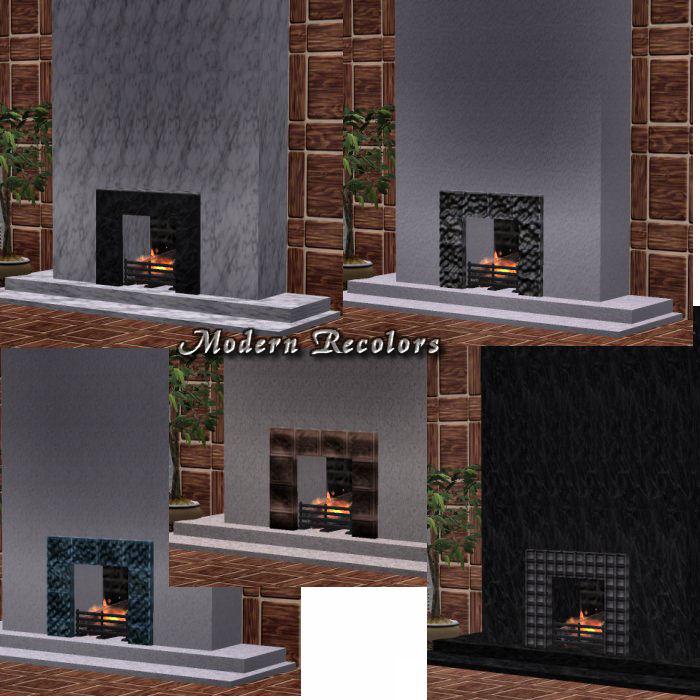 Mod The Sims - Fireplace Facade Set *Recolors*