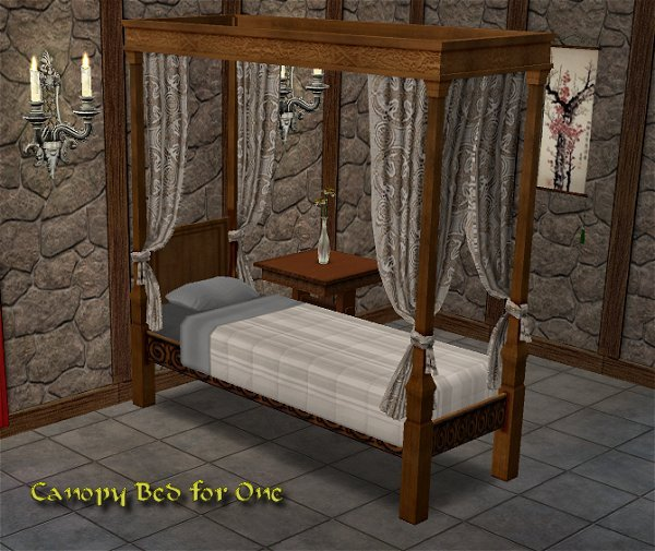 Mod The Sims Single Canopy Bed Updated 8 21 05