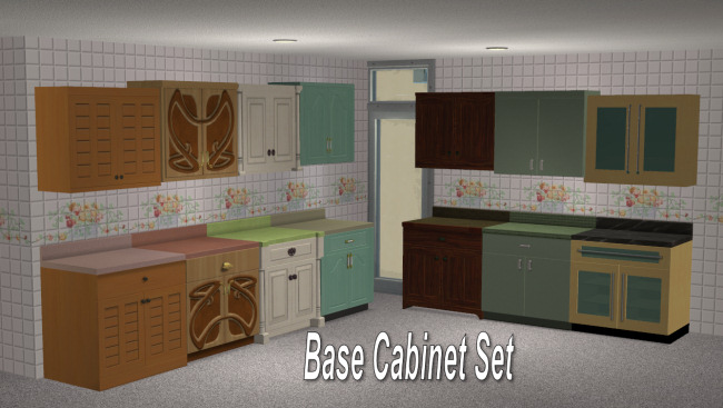 Mod The Sims - Full Set of Maxis Match Wall Cabinets *Updated*