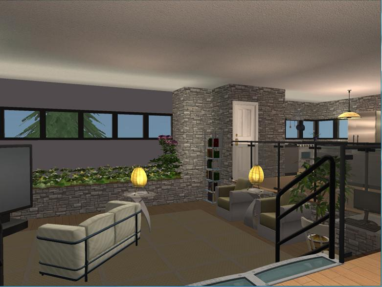 Mod the sims 10 beach row for Sunken living room wikipedia