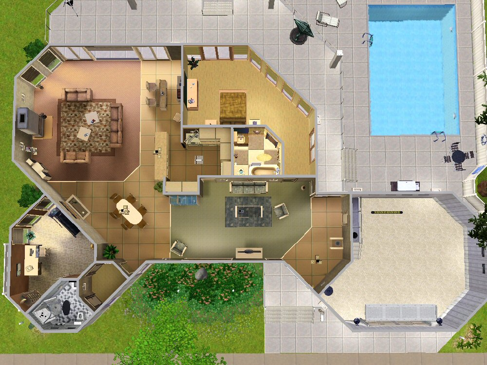 Mod The Sims The Picklin House 100 Redwood Pkwy
