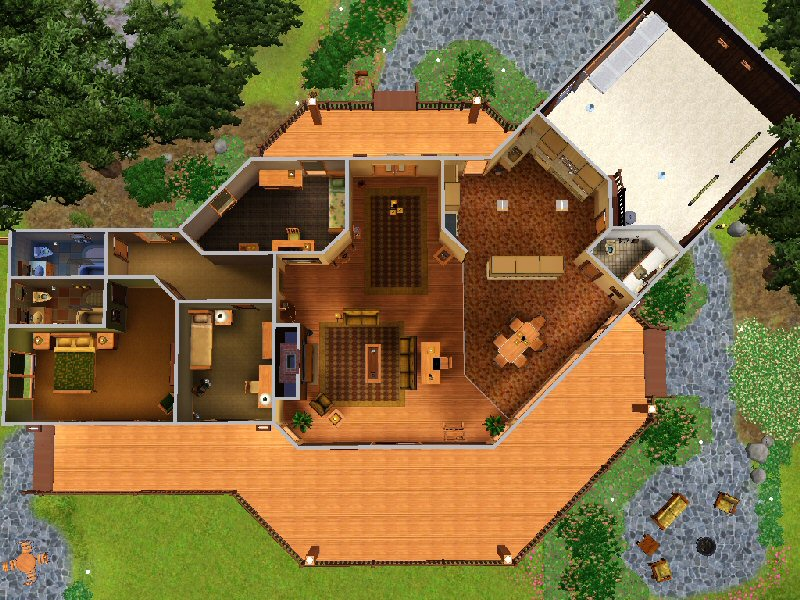 Mod The Sims - The Bennett House - 180 Redwood Pkwy