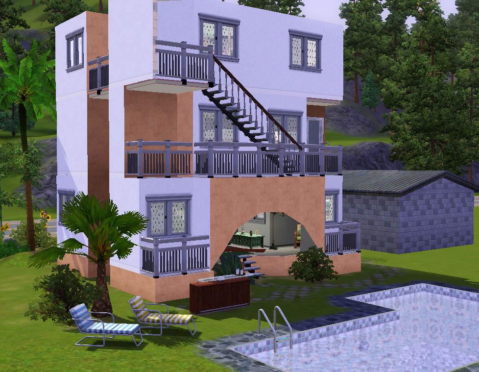 Mod the sims a simple beach house for Simple modern house sims 4