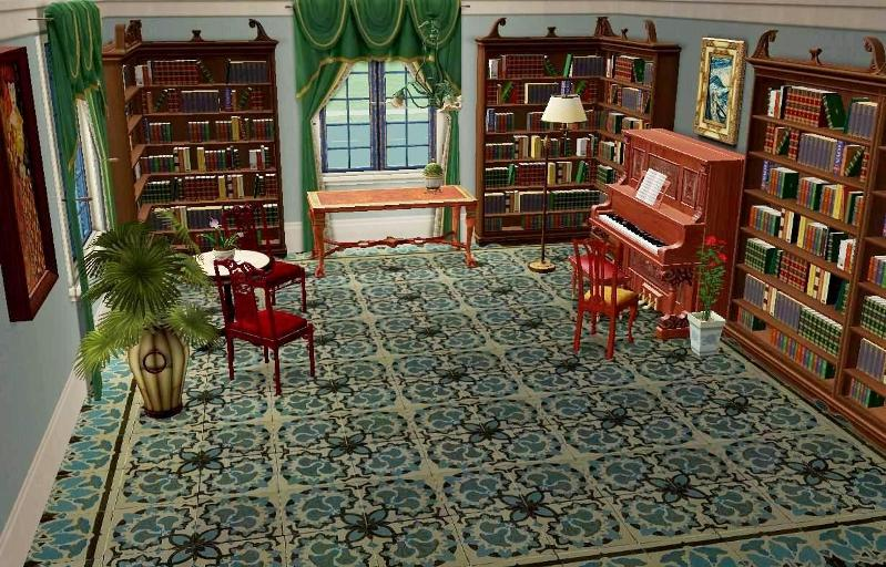 Mod The Sims Three Antique French Ceramic Floor Tiles