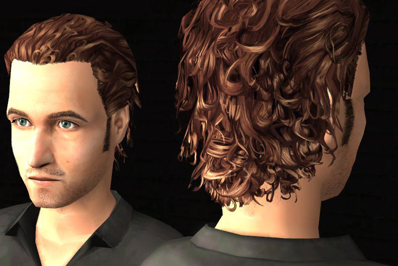 Mod The Sims Model T Tom S Slicked Back Curls Hp