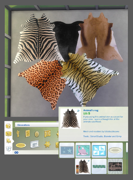 Mod The Sims Animal S Rug New Mesh