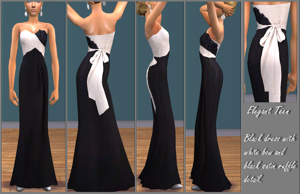 Mod The Sims - Elegant Teen - Two Formal Dresses