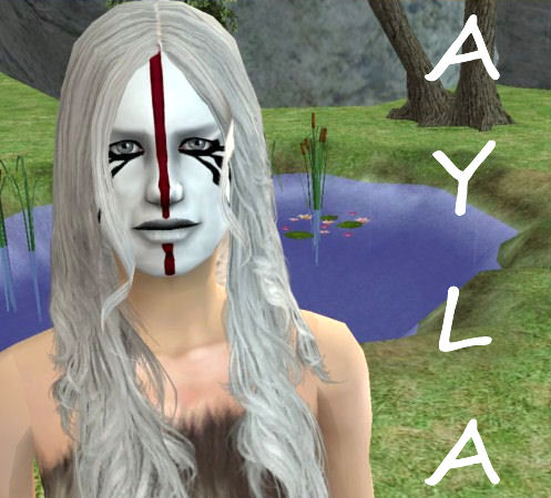 Mod The Sims Ayla Facepaint Clan Of The Cave Bear