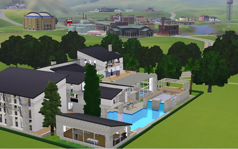 Mod The Sims Modern Giant Luxury Gorgeous Palace