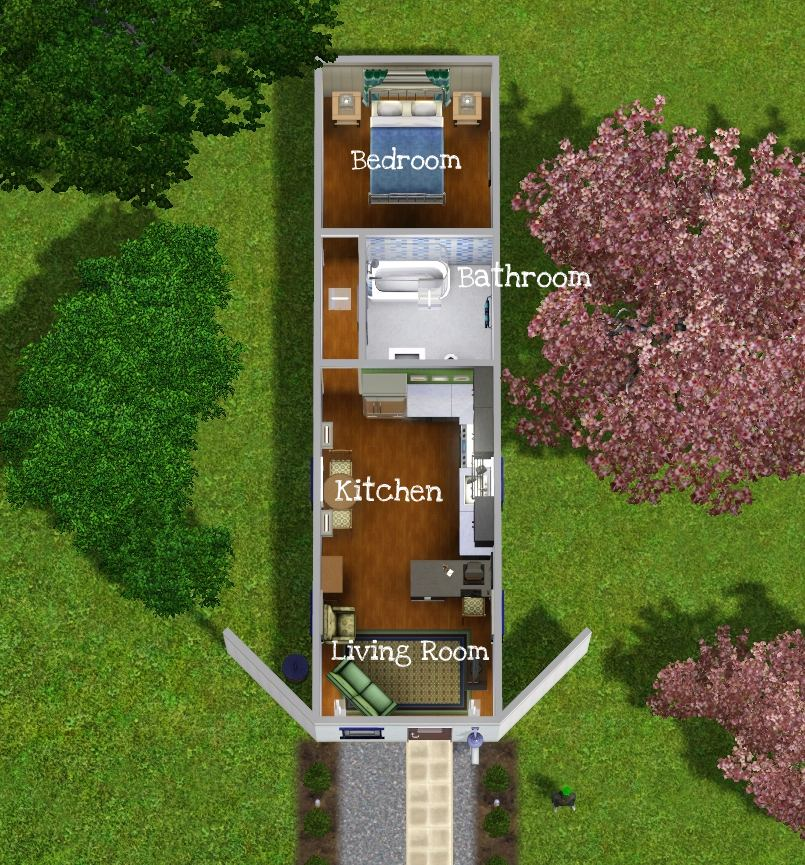 MTS KittyRobbie 1090046 Floorplan - 18+ Small House Floor Plans Sims 4 Background
