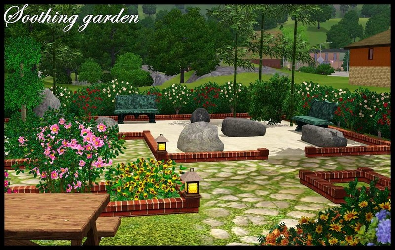 Kardofe_summer garden for sims 4