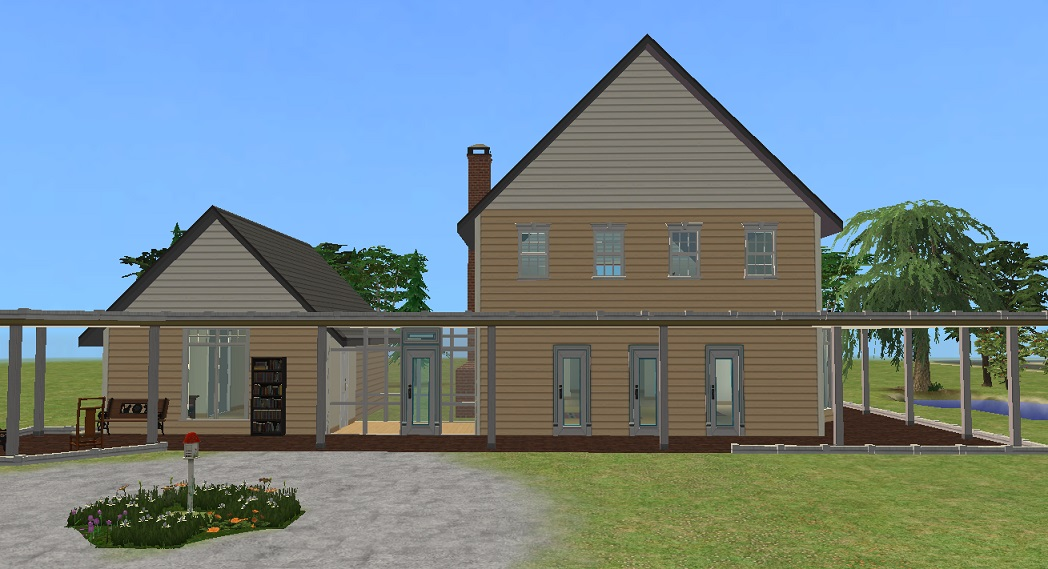 Mod The Sims - Yellow Clapboard House (from the Movie ...