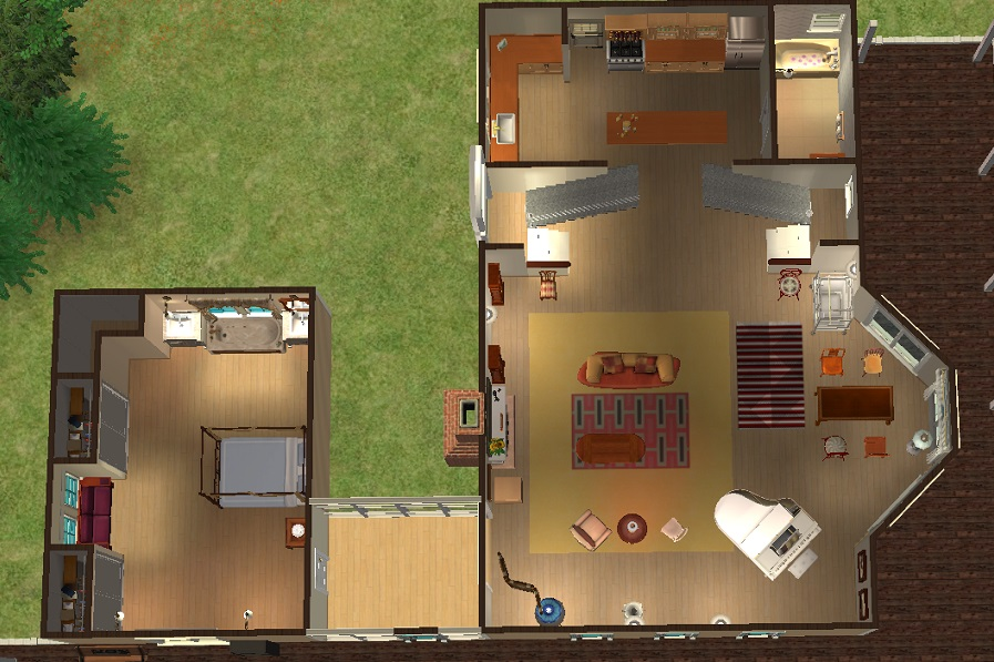 Mod The Sims Yellow Clapboard House From The Movie