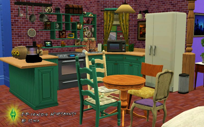 Mod the sims f r i e n d s project the apartments for Appartement design sims 3