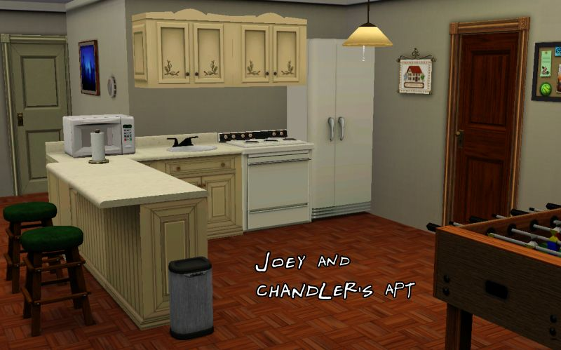 Across The Hall Of Course Are Joey And Chandler I M Sort Pleased With Their Apartment As Well It S A Bit More Plain Than R Cause Noticed That