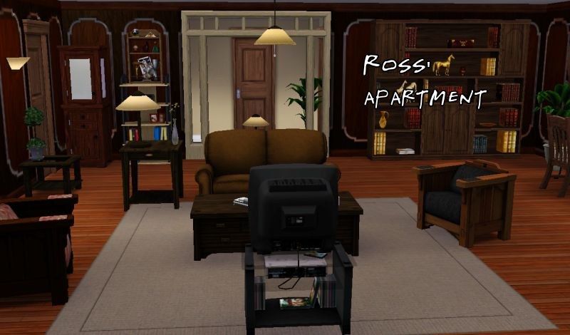 Beside Phoebe S Apartment Is Ross One Bedroom He Loves His Nature And Collecting All Sorts Of Things So I Tried Adding As Much Scientific