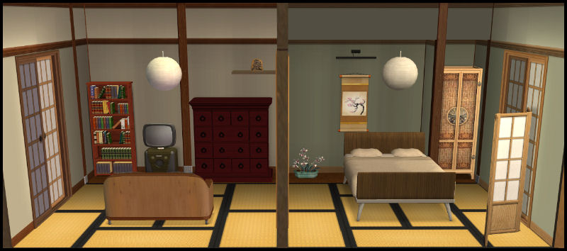Japanese House Inside mod the sims - my japanese house
