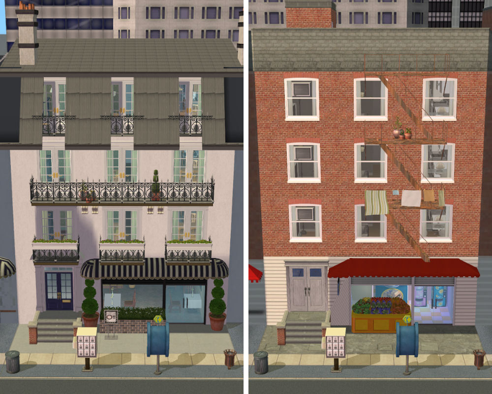 Mod the sims city apartments paris and new york versions for Classic house sims 3