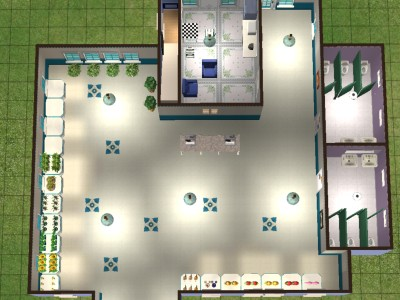 Mod the sims flower shop home business for Flower shop design layouts