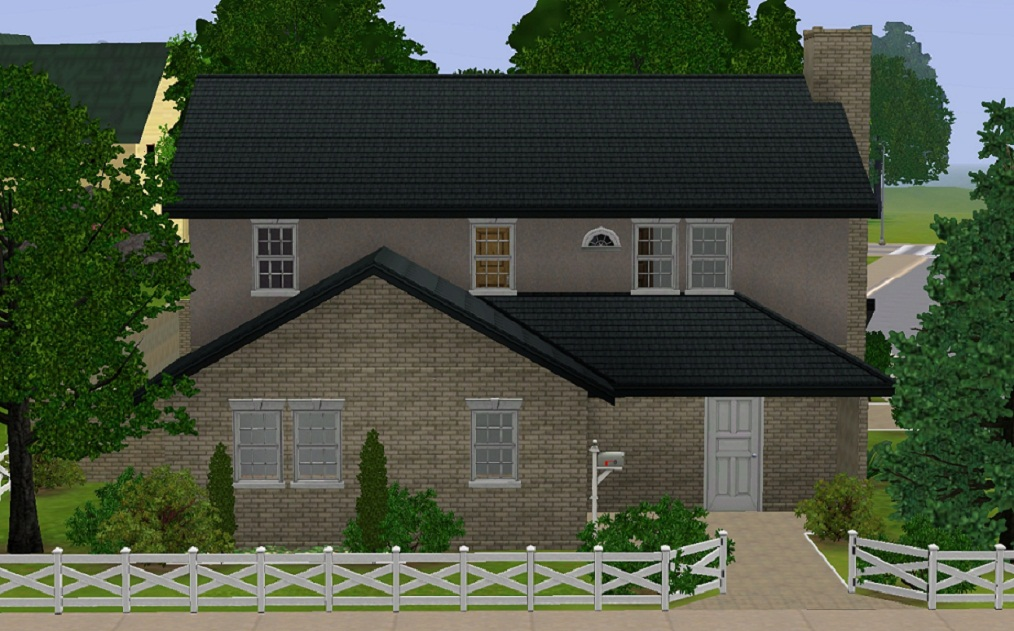 Mod the sims secret american family home for American family homes