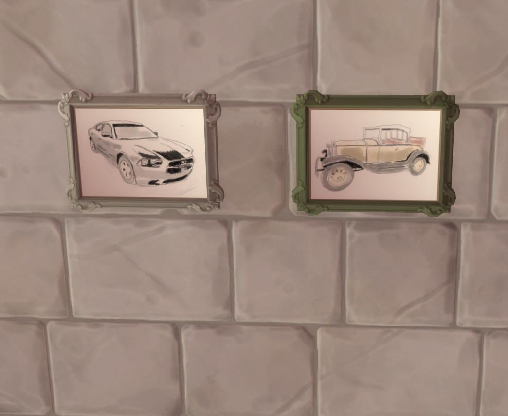 Мод Авто Акварельные Картины