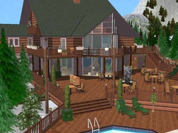 Mod the sims contemporary cabin part 4 the mountain for Cabin lots