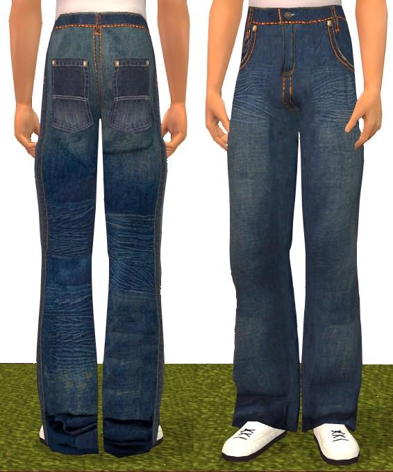 Mod The Sims - Akademiks baggy pants for male teens
